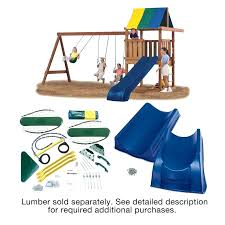 wooden swing set parts wrangler deluxe hardware kit with slide wood not included kits home depot n inc