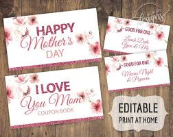 Mothers Day Coupons Personalized Gift Ideas For Mom