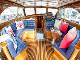 the interior of this hinckley tallaria is elevated by fresh upholstery