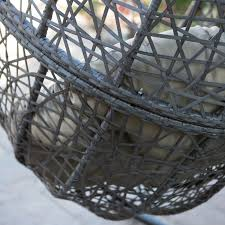 outdoor hanging furniture. Island Bay Resin Wicker Hanging Egg Chair With Cushion And Stand | Hayneedle Outdoor Furniture R