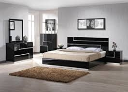black lacquer bedroom furniture. ju0026m furniture lucca black lacquer with crystal accents queen size bedroom set c