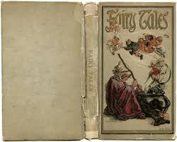1918 fairy tales vine storybook characters aged paper graphics fairy tale book cover