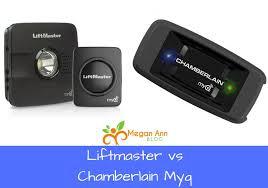 garage door opener upgrade liftmaster vs chamberlain myq new