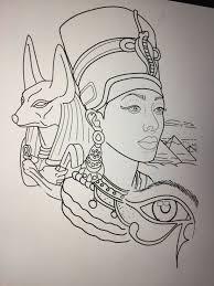 Egyptian Tattoo Design By Amanda Creek Tattoo Artist In Oak Harbor