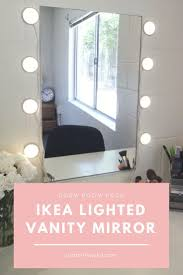 ikea lighted mirror vanity dorm room hack u2013 just a little julia dorm room lighted mirror9 lighted