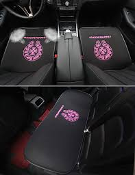 name 3pcs best plush chrome hearts car seat cushions covers universal winter auto mats sets black rose