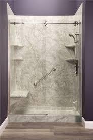 tile shower base kit new shower enclosure frameless sliding shower door grab bar white