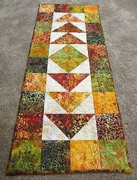 1552 best Quilted Tablerunners & Toppers images on Pinterest ... & Hand Made Quilted Table Runner Hand Dyed Batiks 16 x 39 Multi Adamdwight.com