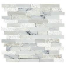 american olean genuine stone refined white linear mosaic marble wall tile common 13