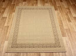 greek key beige rubber backed non slip kitchen rugs mats large kitchen rugs washable