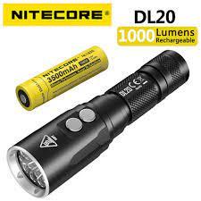 NITECORE DL20 1000 lümen sualtı 100 metre dalış el feneri, kullanarak CREE  XP L HI V3 LED, kırmızı ışık kaynağı yardımcı ı ı ı ı ı ı ı ı ı ı ı