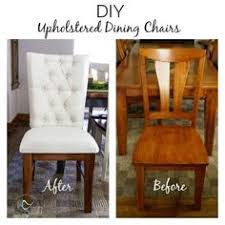 learn how to turn all wood dining chairs into tufted upholstered wood dining chairs with