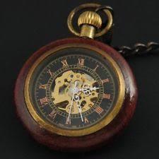 vintage pocket watch antique mechanical wind up skeleton steampunk mens pocket watch fob vintage gift