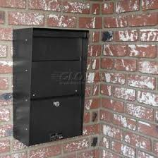 Residential mailboxes side view Door Wall Mount Letter Drop Boxes Global Industrial Residential Mailboxescolumn Wall Mount Globalindustrialcom