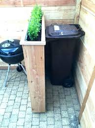 hide outdoor garbage bins designs ways to cans outside trash can creative gar your cre