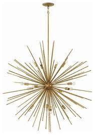 fredrick ramond fr43016 tryst 16 light 42 sputnik chandelier hammered bronze