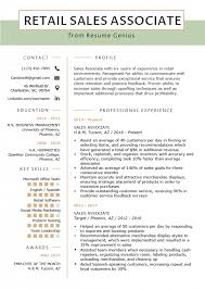 Examples Of A Sales Representative Resume Free Letter