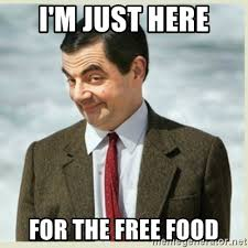 Image result for im just going for the food