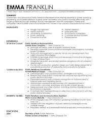 Public Speaking Resume