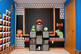 Super Mario Bros Bedroom Decor Super Mario Bros Themed Room 90kidscom Childhood Nostalgia