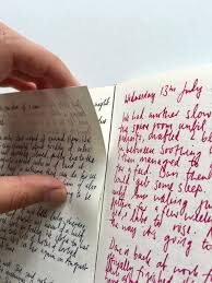 dark star collection notebook review the finer point a used page beginning to come away from the notebook binding