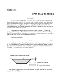 Open Channel Design Module 3 Open Channel Design Nc State University Pages 1