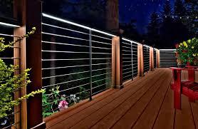 lighting for decks. stylish deck rail lighting lights outdoor azek ideas for decks