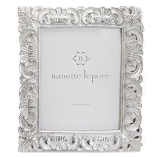 white scroll resin picture frame 8 x 10