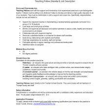 Kindergarten Teacher Resume Job Description Kindergarten Teacher
