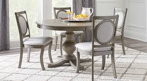 dining room gray. emory heights gray 5 pc round dining room