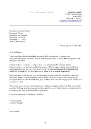 Stunning Example Cover Letter For Resume Horsh Beirut