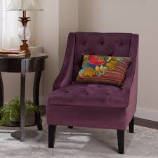 purple tufted chair. Wonderful Tufted Shop Abbyson Laguna Tufted Velvet Purple Accent Chair  Free Shipping Today  Overstockcom 9421251 To N