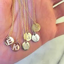 14k gold diamond initial pendant necklace variant