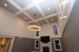 Indented Ceiling Lights Coffered Ceiling Trim Team Woodworking Molding And