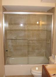 deluxe alumax tub slider brushed nickel hardware clear glass semi frameless door