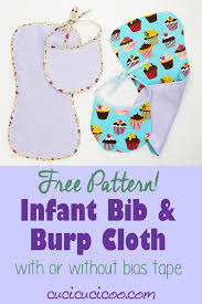 Burp Cloth Pattern Unique Free Bib And Burp Cloth Pattern Withwithout Bias Tape Cucicucicoo