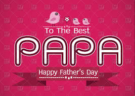 Happy Fathers Day Simple Card Template Stock Vector Image