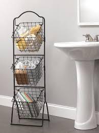 wire basket storage bins organizer rack fruit vegetable stand 3 tier black metal mikasa