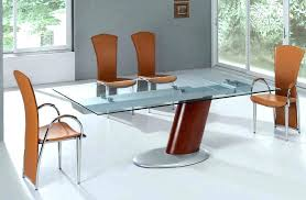 Expandable Glass Dining Room Tables Interior Impressive Ideas