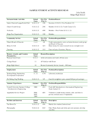 Extra Curricular Activities For Resume Examples Oneswordnet