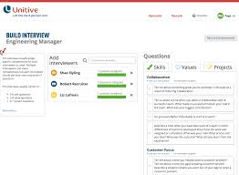 unitive for interview coordinators unitive unitive s system will suggestion interview questions for most skills and values you can also add your own questions by clicking on add your own question