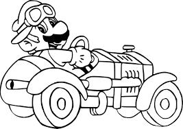Coloriage Mario Kart 7 Imprimer