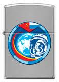 <b>Zippo Гагарин</b> Brushed Chrome (200 COSMONAUT) | <b>зажигалка</b> ...