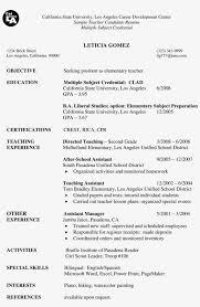 Teacher Objective Resume First Grade Teacher Sample Paper Student Resume Cover Letter