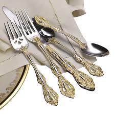 fine cutlery brands. Contemporary Cutlery Oneida Golden Michelangelo Fine Flatware For Cutlery Brands E