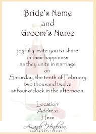 Sample Of Wedding Invitation Wording Free Text Templates