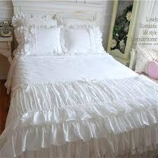 black ruffle bedding beautiful wedding cake layers bedding set twin full queen king size white ruffle