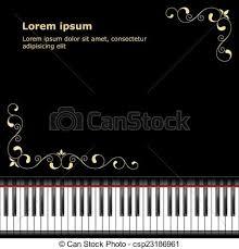 Zwei tastaturen auf weißem hintergrund. Klaviervorlage Vorlage Mit Klaviertastatur Auf Schwarzem Hintergrund Vector Illustration Canstock