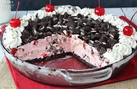 cherry pie slice with ice cream. Exellent Pie Chocolate Cherry Ice Cream Pie  Sweet Light Cherry Ice Cream Filled With  Nestl For Slice With