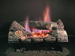 gas fireplace glowing embers inch see log set with vent free